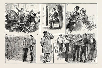 Some Of The Comic Elements In The Grounding Of A Troopship Art Print by English School