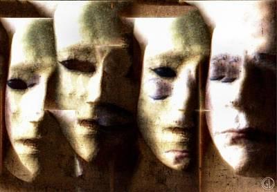 Eerie Digital Art - Some Of Us Wear Them by Gun Legler