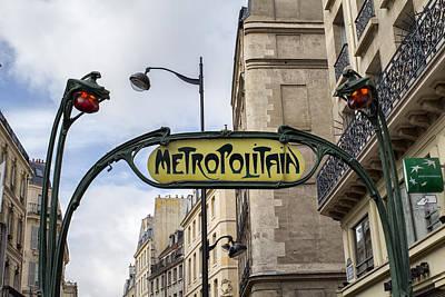 Metro Art Photograph - Some Things Don't Change - Paris by Georgia Fowler