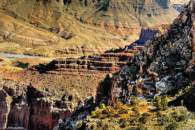 Some Views From Moran Point -  Grand Canyon Art Print by Bob and Nadine Johnston