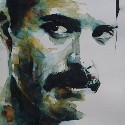 Lips Painting - Freddie Mercury by Paul Lovering