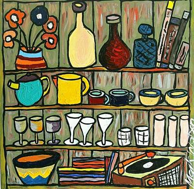 Teapot Painting - Somebody's Shelf by Mark Watson
