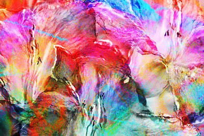 Art Print featuring the painting Somebody's Smiling - Abstract Art by Jaison Cianelli