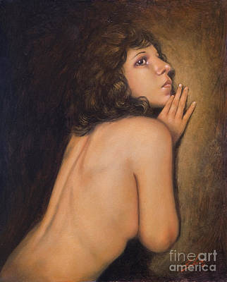 Sepia Chalk Painting - Someone Else II by John Silver