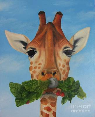 Someone Is Eating My Garden Art Print by Pam Fries