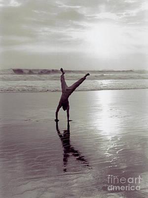 Somersalting On Bali Black Sand Beach 2 Art Print