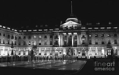 Photograph - Somerset House B/w by Heidi Hermes