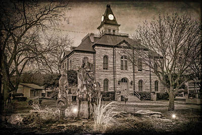 Somervell County Courthouse Art Print