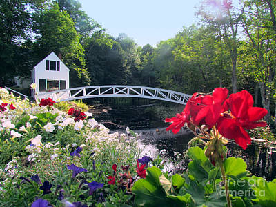 Somesville Photograph - Somesville Bridge And Home by Elizabeth Dow