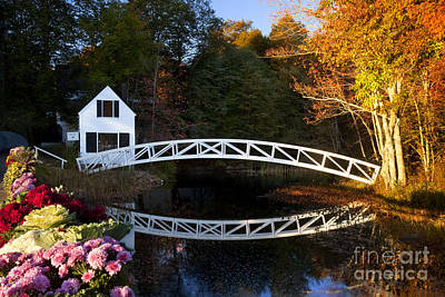 Maine Cottage Photograph - Somesville Bridge by Brian Jannsen
