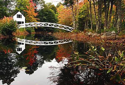 Somesville Bridge Art Print by Marcia Colelli