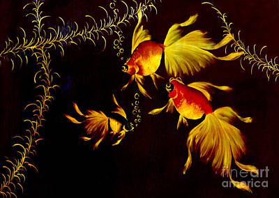 Something Is Fishy Here Art Print by Al Bourassa