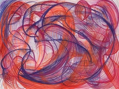 Modern Abstract Drawing - Something Larger by Kelly K H B