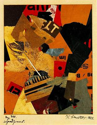 Modernist Mixed Media - Something Or Other 1922 by Kurt Schwitters