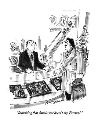 Buy Drawing - Something That Dazzles But Doesn't Say 'forever.' by Bernard Schoenbaum