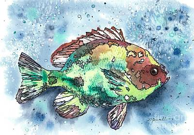 Something's Fishy Art Print by Barbara Jewell
