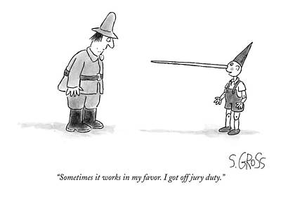 Sometimes It Works In My Favor. I Got Off Jury Art Print