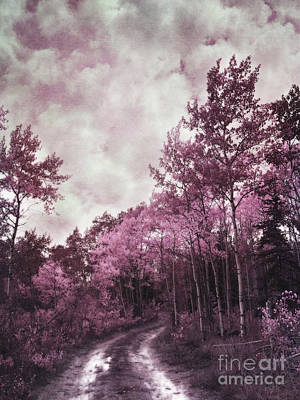 Surreal Landscape Photograph - Sometimes My World Turns Pink by Priska Wettstein