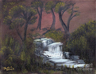 Painting - Somewhere Along A Waterfall by J Cheyenne Howell