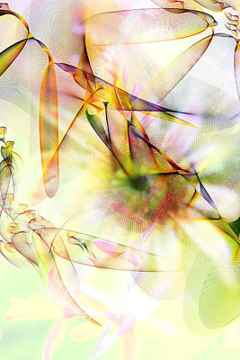 Digital Art - Somewhere In A Garden by Marie Jamieson