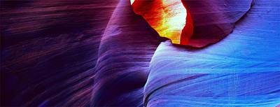 Art Print featuring the photograph Somewhere In America Series - Blue In Antelope Canyon by Lilia D