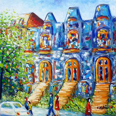 Painting - Somewhere In Montreal - Cityscape by Cristina Stefan