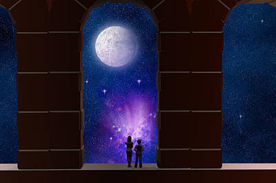 Somewhere In Time And Space Print by Carol and Mike Werner
