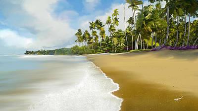 Hawaiian Digital Art - Somewhere Near Forever by Anthony Fishburne