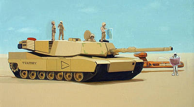 Iraq Painting - Somewhere Outside Baghdad by Scott Listfield