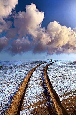Winter Roads Photograph - Somewhere Over The Horizon by Phil Koch