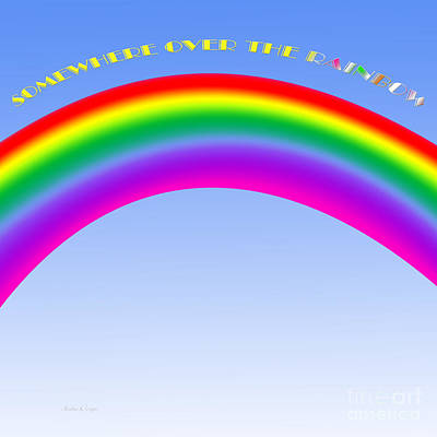 Digital Art - Somewhere Over The Rainbow by Andee Design