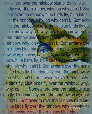 Painting - Somewhere Over The Rainbow by Tamyra Crossley