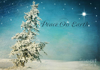 Christmas Holiday Scenery Photograph - Somewhere -  Peace On Earth by Beve Brown-Clark Photography
