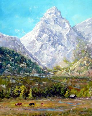 Dillon Painting - somewheres a mountain Kiez? by Michael Dillon
