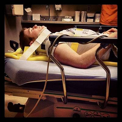 Er Photograph - #son #er #wrestlingpractice #injury by S Smithee