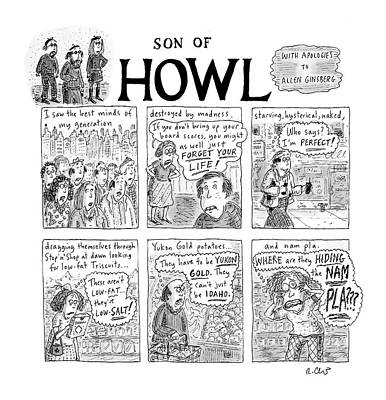 Literature Drawing - Son Of Howl by Roz Chast