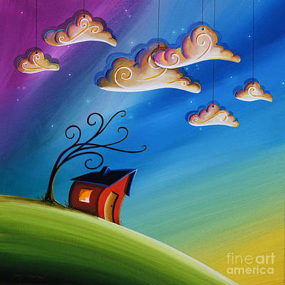 Rainbow Fantasy Art Painting - Song At Sunset by Cindy Thornton