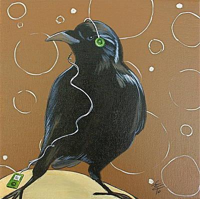 Music Ipod Painting - Song Bird by Eva Trinczek