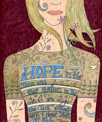 Song Of Hope Art Print by Valerie Lorimer
