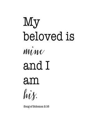 Song Of Solomon 2:16 Art Print