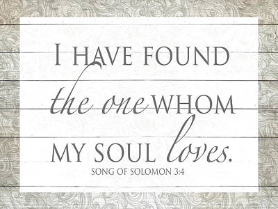 Have Digital Art - Song Of Solomon by Sd Graphics Studio