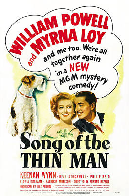 Asta Photograph - Song Of The Thin Man, Us Postter Art by Everett