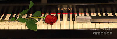 Kawai Photograph - Song With Piano by Nijole Byer