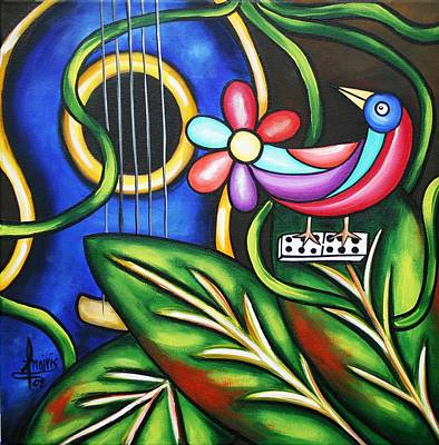 Painting - Songbird by Annie Maxwell