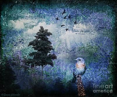 Animals Digital Art - Songbird by Lianne Schneider