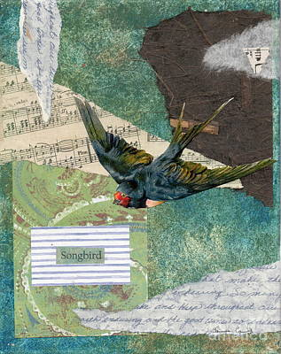 Painting - Songbird Swallow by Tamyra Crossley
