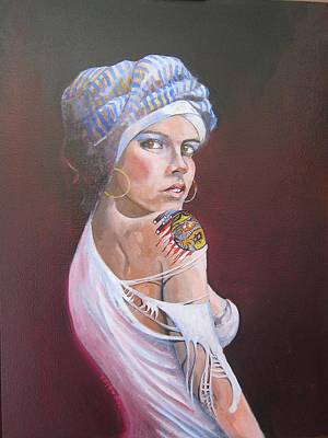 Wip Painting - Sonia by Ray Agius