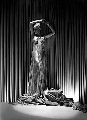 Rhinestone Photograph - Sonia Wearing A Vionnet Dress by Horst P. Horst