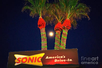 Sonic America's Drive In Print by Beverly Guilliams