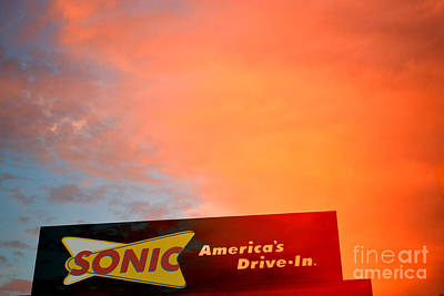 Sonic Drive-in Print by Beverly Guilliams